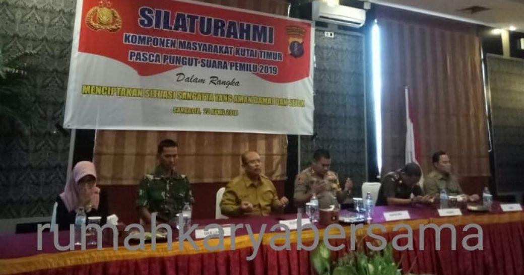 Deklarasi, Polres Kutim Ajak Warga Menunggu Keputusan KPU