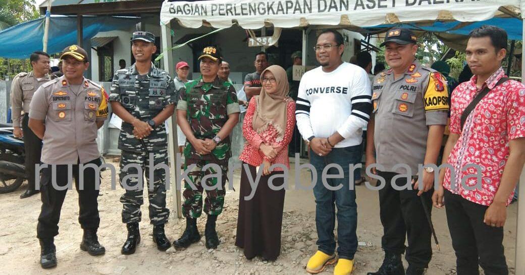 Wabup Kasmidi dan FKPD Tinjau TPS
