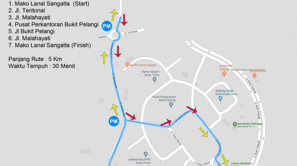 HUT ke 15, Lanal Sangatta Gelar Fun Bike dan Fun Walk