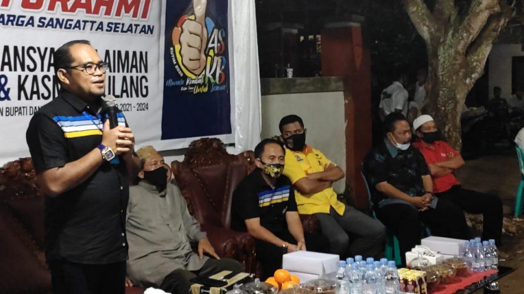 Kasmidi Bulang Silaturahmi dengan Warga Sangatta Selatan, Beberkan Program ASKB