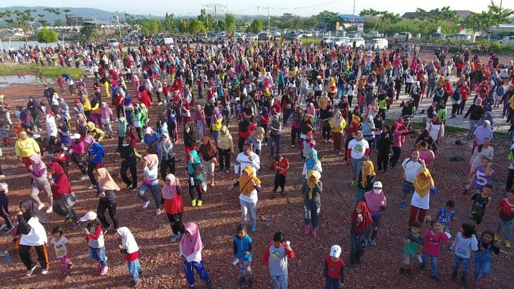 Gagas Senam Bersama Gratis, untuk Kutai Timur Sehat