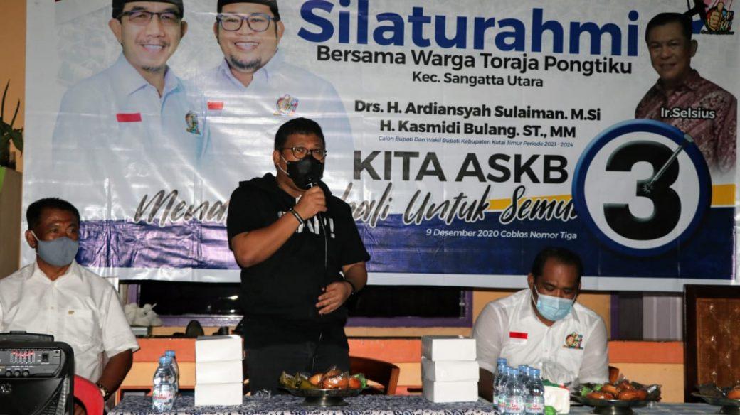 Turun Gunung, Irwan Ajak Warga Toraja Pongtiku dan Gang Bhineka Menangkan ASKB