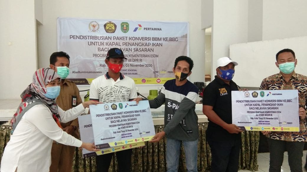 Program Kementerian ESDM, 320 Nelayan Kutai Timur Terima Paket Konversi BBM ke BBG