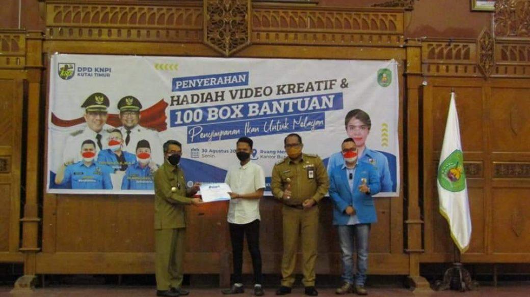 Pemenang Lomba Video Kreatif, Mendapat Apresiasi Dari Bupati Kutim.