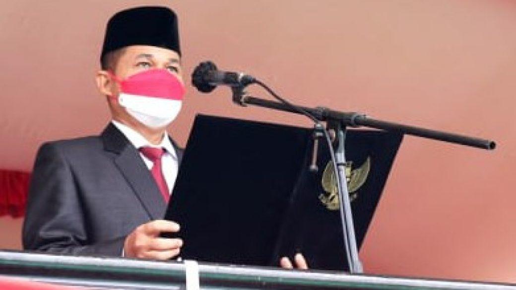 Ketua DPRD Kab. Kutim Bertindak Selaku Pembaca Teks Proklamasi di HUT RI Ke – 76